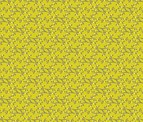 Midsummer_Branches_Yellow fabric by robinpickens on Spoonflower - custom fabric