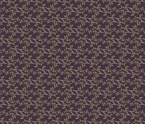 Midsummer_Branches_Purple fabric by robinpickens on Spoonflower - custom fabric