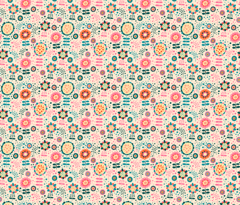 Funny Flowers fabric by valendji on Spoonflower - custom fabric