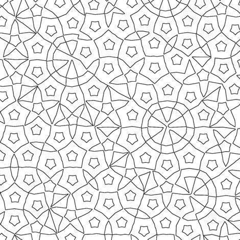 quasicrystal stars (outline) fabric by weavingmajor on Spoonflower - custom fabric