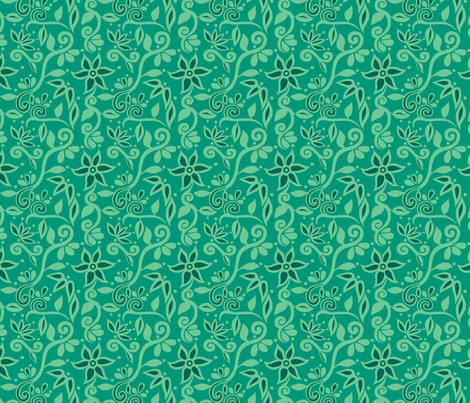 Rapunzel Floral Green fabric by aimee on Spoonflower - custom fabric