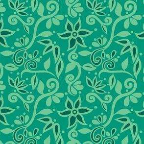 Rapunzel Floral Green