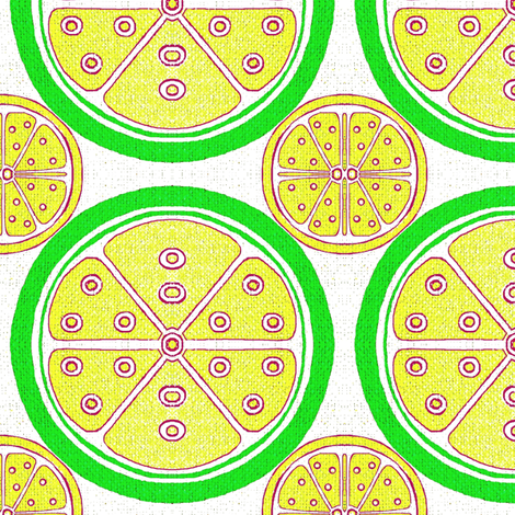 Lemon and Lime Citrus Fruit fabric by dk_designs on Spoonflower - custom fabric