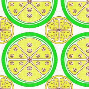 Lemon and Lime Citrus Fruit