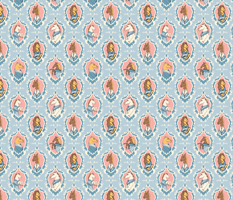 Equine Portraits fabric by audsbodkin on Spoonflower - custom fabric