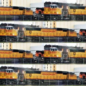 Union Pacific Locomotive Brick 8x2""