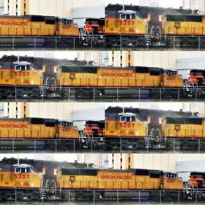 "Union Pacific Locomotive Brick 8x2"""