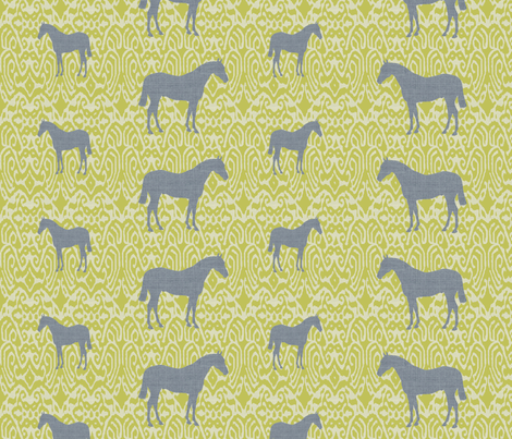 ikatcharcoalhorse fabric by ragan on Spoonflower - custom fabric
