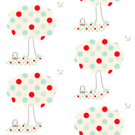 A polka Dot Picnic fabric by karenharveycox on Spoonflower - custom fabric
