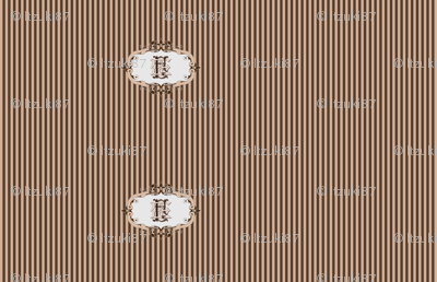 Brown and beige stripes with EF monogram