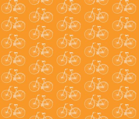 Bright Orange Bikes fabric by lizziebdesigns on Spoonflower - custom fabric