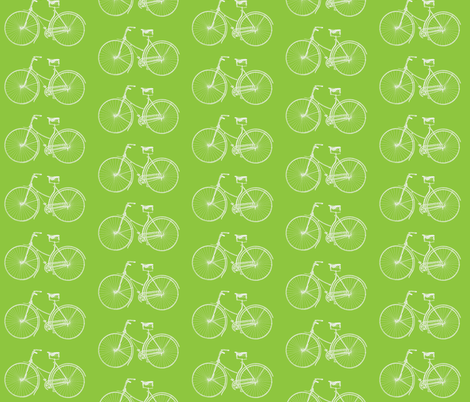 Lime Green Bikes fabric by lizziebdesigns on Spoonflower - custom fabric