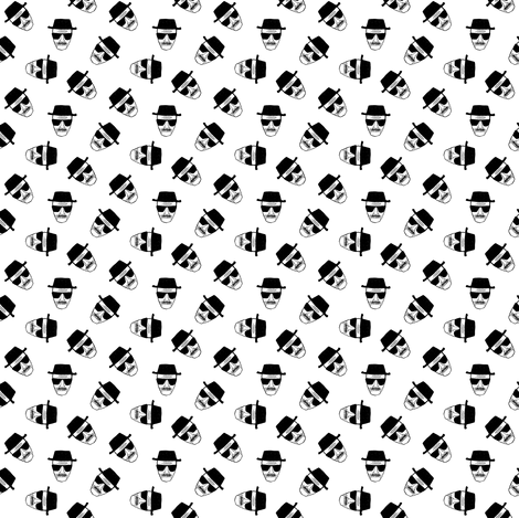 Le chef black and white fabric by susiprint on Spoonflower - custom fabric