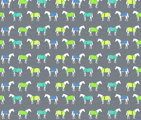 Horse Rugs of a Different Color fabric by ragan on Spoonflower - custom fabric
