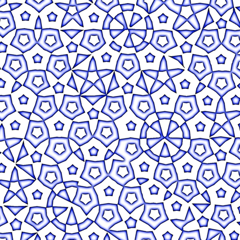 quasicrystal stars (indigo glow) fabric by weavingmajor on Spoonflower - custom fabric