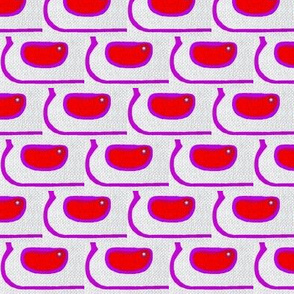 Kidney beans on weaved fabric