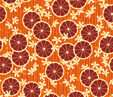 Blood Orange Allegria fabric by siya on Spoonflower - custom fabric