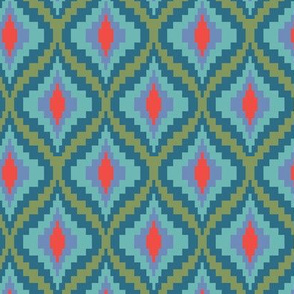 bargello flame pattern