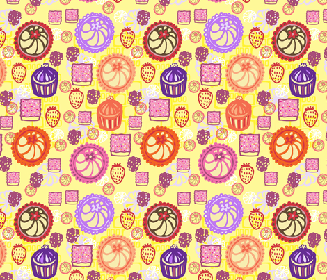 Sweet Summer Picnic Picks fabric by slumbermonkey on Spoonflower - custom fabric