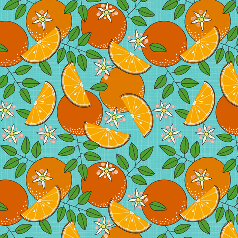 Simply Citrus fabric by dianne_annelli on Spoonflower - custom fabric