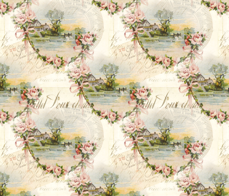 Sweet Home fabric by peagreengirl on Spoonflower - custom fabric