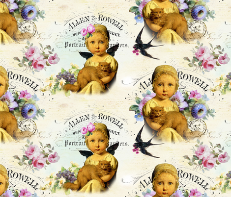 Angel Mine fabric by peagreengirl on Spoonflower - custom fabric