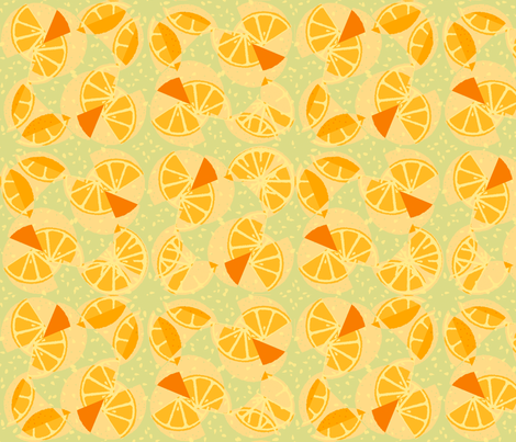 sliced_oranges fabric by lfntextiles on Spoonflower - custom fabric