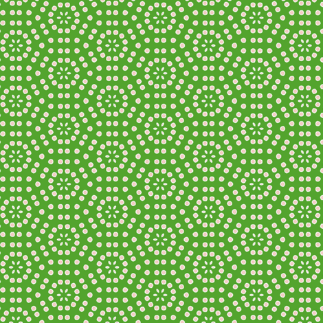 pink dots on green