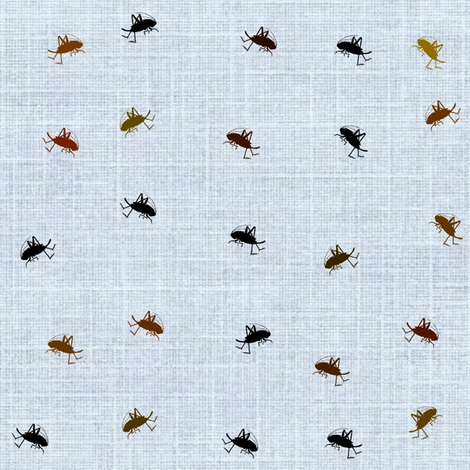 Tiny Crickets fabric by cottagerosestudio on Spoonflower - custom fabric
