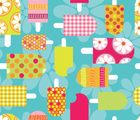 Pops of Citrus fabric by cynthiafrenette on Spoonflower - custom fabric