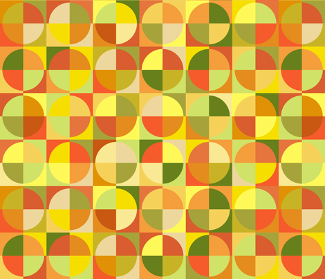 Circles of citrus fabric by blondfish on Spoonflower - custom fabric
