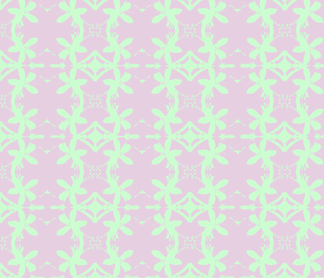 Garlands of Lemon Blossoms Lime on Lavender fabric by walkwithmagistudio on Spoonflower - custom fabric