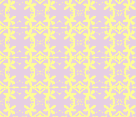 Garlands of Lemon Blossoms on Lavender fabric by walkwithmagistudio on Spoonflower - custom fabric