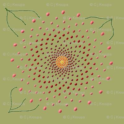 Pointillist Flower