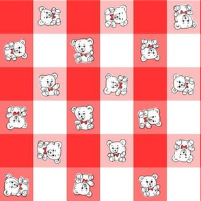 Teddy Bear Gingham | Red