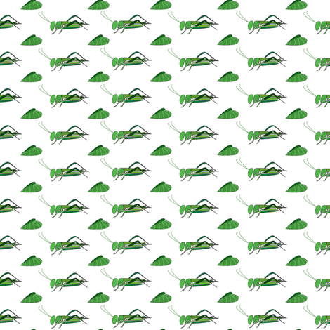 Too many crickets ! fabric by the_a_design on Spoonflower - custom fabric