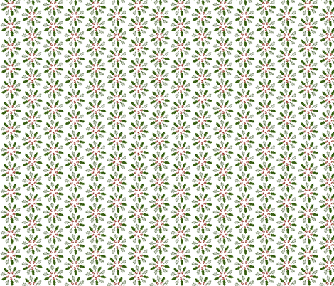 Holly Pinwheel fabric by ravynscache on Spoonflower - custom fabric