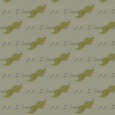 P.S. I love You fabric by walkwithmagistudio on Spoonflower - custom fabric