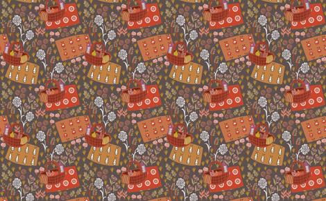 Garden Picnic fabric by susan_polston on Spoonflower - custom fabric