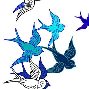 Blue Birds, White Birds