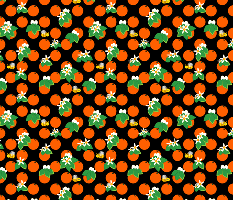 Orange blossom fabric by alexsan on Spoonflower - custom fabric