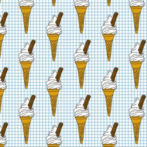 Icecream Cone on Graph Paper