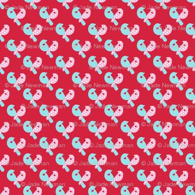 Love Birds on Red