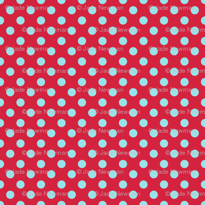 Polka Dot Red And Blue