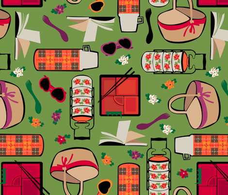 Global Picnic fabric by mimihammill on Spoonflower - custom fabric