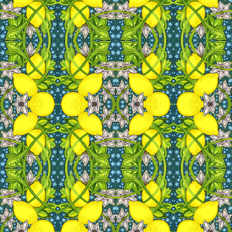 When Life Comes Up Lemons fabric by edsel2084 on Spoonflower - custom fabric