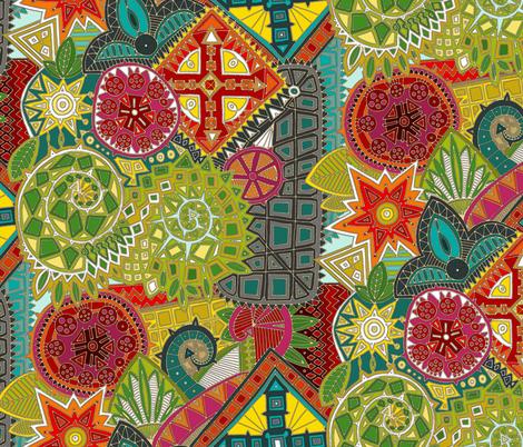 dragon tail bright fabric by scrummy on Spoonflower - custom fabric