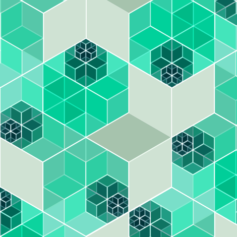 Hexagon 1 fabric by heleenvanbuul on Spoonflower - custom fabric