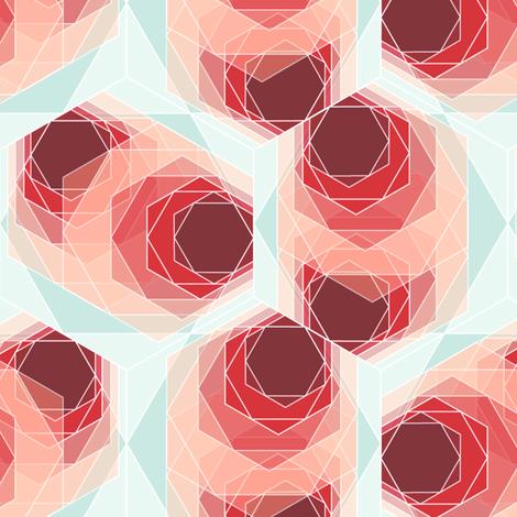Hexagon 2 fabric by heleenvanbuul on Spoonflower - custom fabric