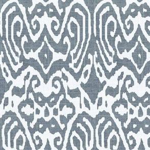 Charcoal Linen Ikat
